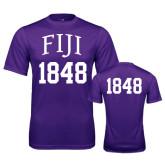 Performance Purple Tee-FIJI Tee w/ Number