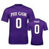 Performance Purple Tee-Phi Gam Custom Tee w/ Name & Number