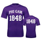 Performance Purple Tee-Phi Gam Tee w/ Number
