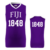 Replica Purple Adult Basketball Jersey-Arched FIJI