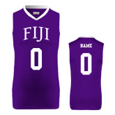 Replica Purple Adult Basketball Jersey-Arched FIJI Personalized