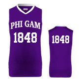 Replica Purple Adult Basketball Jersey-Arched Phi Gam