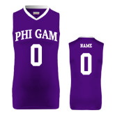 Replica Purple Adult Basketball Jersey-Arched Phi Gam Personalized