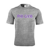 Performance Grey Heather Contender Tee-Phi Gam Two Color
