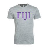 Next Level SoftStyle Heather Grey T Shirt-FIJI