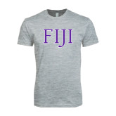 Next Level SoftStyle Heather Grey T Shirt-FIJI Two Color