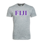 Next Level SoftStyle Heather Grey T Shirt-FIJI Contemporary Two Color