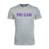Next Level SoftStyle Heather Grey T Shirt-Phi Gam