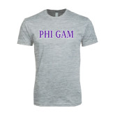 Next Level SoftStyle Heather Grey T Shirt-Phi Gam Two Color