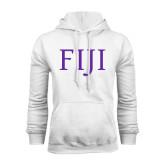 White Fleece Hoodie-FIJI