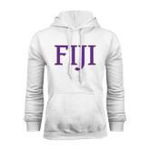 White Fleece Hoodie-FIJI Two Color