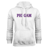 White Fleece Hoodie-Phi Gam Two Color