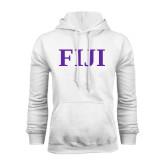 White Fleece Hoodie-FIJI Contemporary