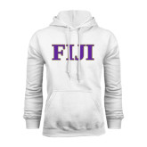 White Fleece Hoodie-FIJI Contemporary Two Color