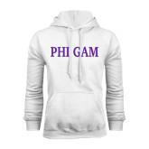 White Fleece Hoodie-Phi Gam