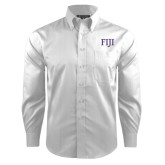 Red House White Dobby Long Sleeve Shirt-FIJI Two Color