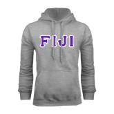 Grey Fleece Hoodie-FIJI Tackle Twill