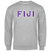 Grey Fleece Crew-FIJI Tackle Twill