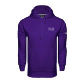 Under Armour Purple Performance Sweats Team Hoodie-FIJI