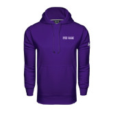 Under Armour Purple Performance Sweats Team Hoodie-Phi Gam Two Color
