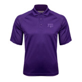 Purple Textured Saddle Shoulder Polo-FIJI Two Color