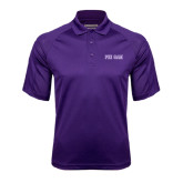 Purple Textured Saddle Shoulder Polo-Phi Gam Two Color
