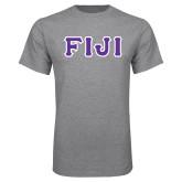 Grey T Shirt-FIJI Tackle Twill
