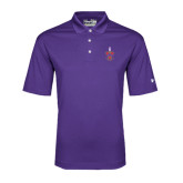 Under Armour Purple Performance Polo-Crest