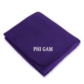 Purple Arctic Fleece Blanket-Phi Gam