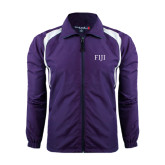 Colorblock Purple/White Wind Jacket-FIJI