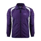 Colorblock Purple/White Wind Jacket-FIJI Two Color