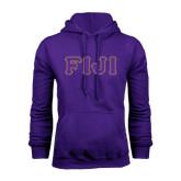 Purple Fleece Hoodie-FIJI Tackle Twill