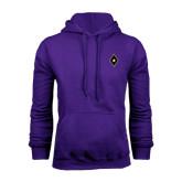Purple Fleece Hoodie-Diamond and Star