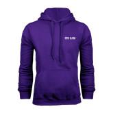 Purple Fleece Hoodie-Phi Gam
