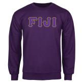 Purple Fleece Crew-FIJI Tackle Twill