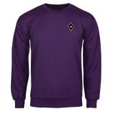 Purple Fleece Crew-Diamond and Star