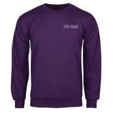 Purple Fleece Crew-Phi Gam Two Color