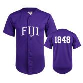 Replica Purple Adult Baseball Jersey-Arched FIJI