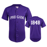 Replica Purple Adult Baseball Jersey-Arched Phi Gam