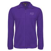 Fleece Full Zip Purple Jacket-FIJI Two Color