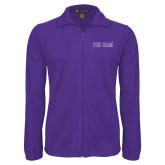 Fleece Full Zip Purple Jacket-Phi Gam Two Color