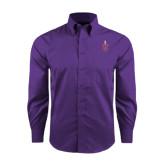 Red House Purple Long Sleeve Shirt-Crest