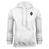 White Fleece Hoodie-Diamond and Star