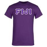 Purple T-Shirt-FIJI Tackle Twill