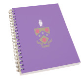 Clear 7 x 10 Spiral Journal Notebook-Phi Gam