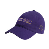 Purple Twill Unstructured Low Profile Hat-Phi Gam Two Color