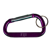 Purple Carabiner with Split Ring-FIJI Engraved