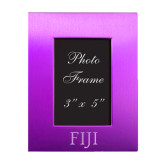 Purple Brushed Aluminum 3 x 5 Photo Frame-FIJI Engraved