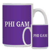 Full Color White Mug 15oz-Phi Gam