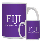 Full Color White Mug 15oz-FIJI Graduate Brother
